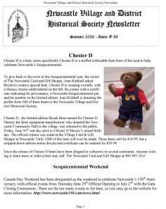 Summer 2006 NVDHS Newsletter